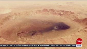 Revelan nueva fotografía de un cráter en Marte
