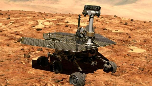 IMAGEN Robot que exploraba Marte 'muere' por tormenta de polvo / Nasa enero 2003