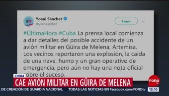 Foto: Se estrella avión militar en Cuba