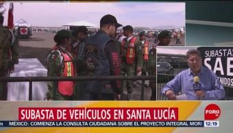 FOTO: Se realiza subasta de vehículos en Santa Lucía, 23 febrero 2019