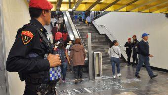 Foto: operativo de seguridad en el Metro de la CDMX, 4 de febrero 2019. Notimex