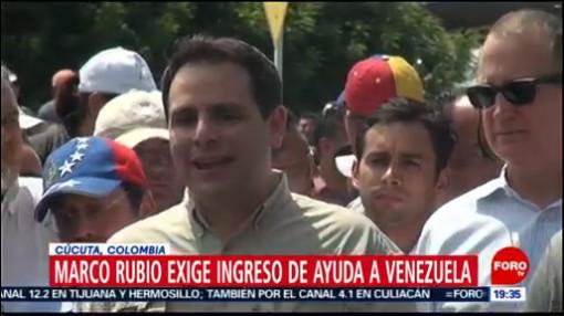 FOTO: Senador de EU, Marco Rubio, visita frontera Colombia-Venezuela, 17 febrero 2019