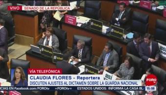 Foto: Senadores ajustan dictamen para Guardia Nacional