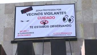 'Si te agarramos te linchamos', advierten a ladrones, vecinos de fraccionamiento en García, NL