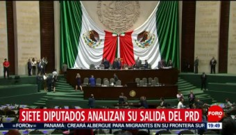 Foto: Siete Diputados PRD Analizan Salida Partido 14 de Febrero 2019