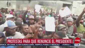 FOTO: Siguen protestas para pedir renuncia del presidente de Haití, 16 febrero 2019