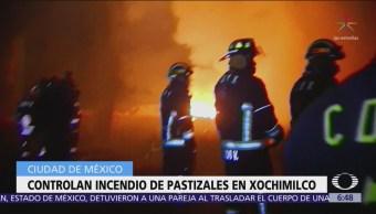 Sofocan incendios en zona chinampera de Xochimilco, CDMX