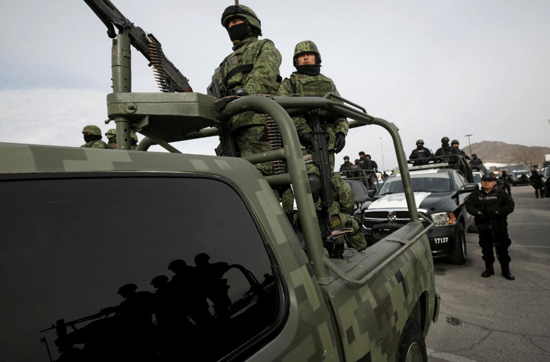 Foto: Soldados en Ciudad Juárez, Chihuahua, 13 de febrero de 2019, México