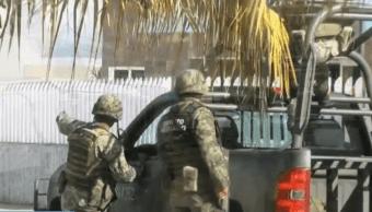 Foto: Soldados mexicanos vigilan calles, México