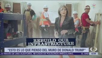 Spot de Michelle Lujan causa polémica; rechaza muro de Trump
