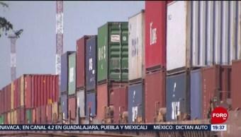 FOTO: Suman 2 mil contenedores detenidos por bloqueos de CNTE, 2 febrero 2019