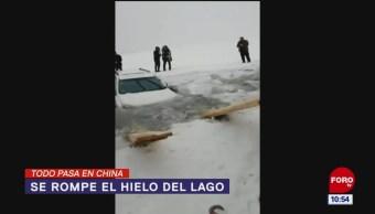 Todo Pasa En China: Se rompe el hielo del lago
