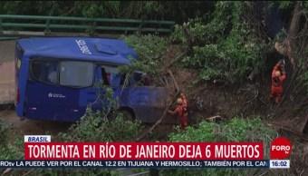 Foto: Tormenta en Río de Janeiro deja seis muertos