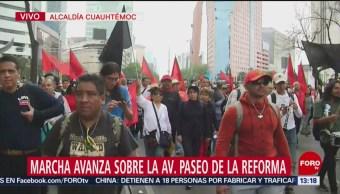 Foto: Trabajadores de la UAM marchan en la CDMX