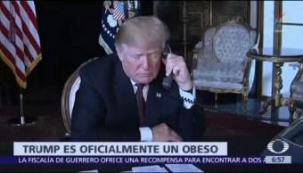 Trump es obeso, según informe médico de la Casa Blanca