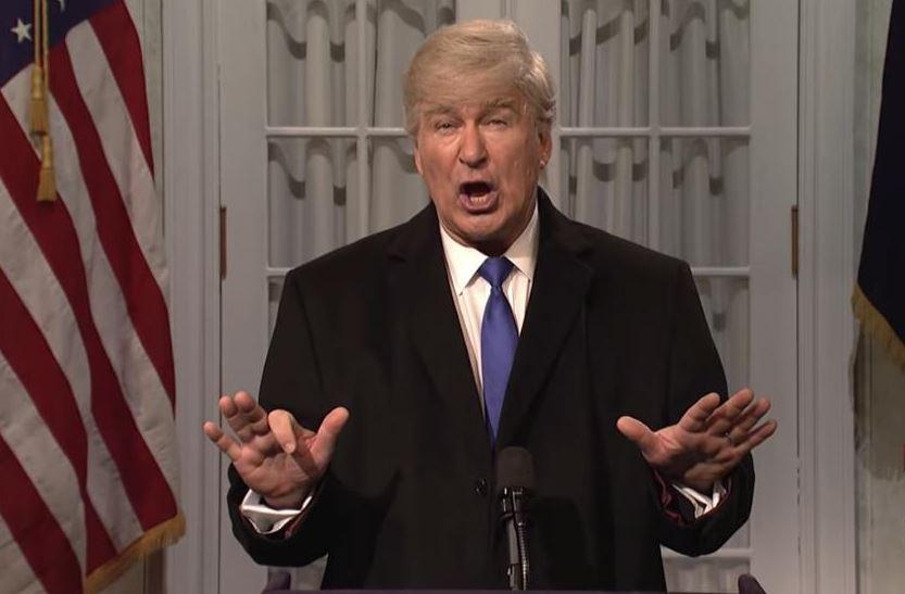 Foto: El actor Alec Baldwin, caracterizado como Donald Trump, 17 febrero 2109