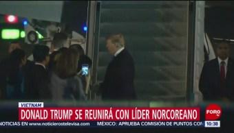Trump y Kim llegan a Vietnam