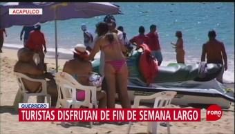 FOTO: Turistas disfrutan de fin de semana largo en Guerrero, 2 febrero 2019