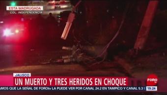 FOTO: Un muerto y tres heridos en choque en Jalisco, 2 febrero 2019