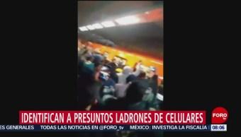 FOTO: Usuarios casi golpean a ladrones de celulares en STC Metro, 10 febrero 2019