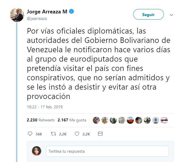 venezuela expulsa diputados europeos que pretendian reunirse con juan guaido