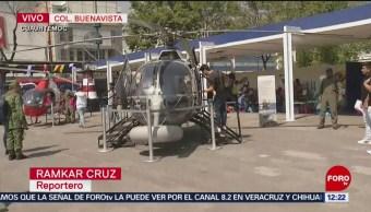 Visita exposición militar con vehículos y aeronaves en Buenavista, CDMX