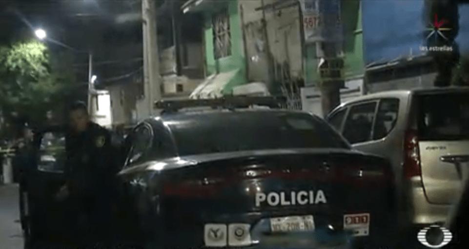 Foto: Patrulla de la Ciudad de México en lugar de homicidio, 21 de marzo de 2019