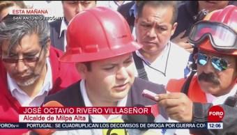 Abren carpeta de investigación por incendio de pipa de gas en Milpa Alta