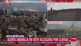Foto: Activan alerta amarilla por lluvias en siete alcaldías de CDMX
