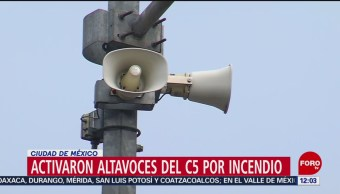 FOTO:Activaron altavoces del C5 por incendio en Conagua, 23 Marzo 2019