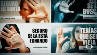 Foto: Amieva Violencia Mujeres Campaña Plagio 5 de Marzo 2019