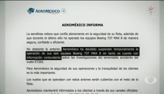 Foto: Aeroméxico Aviones Boeing 737 Max 8 Marzo 2019