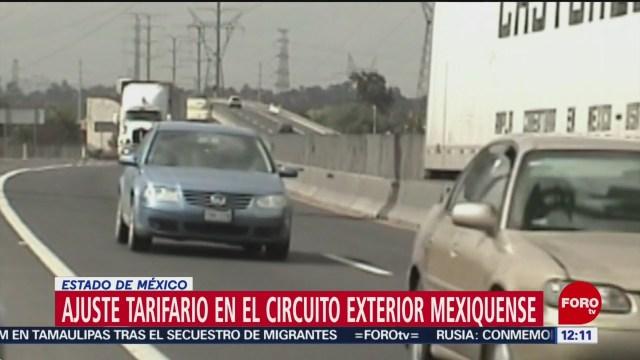 FOTO: Ajuste tarifario en el Circuito Exterior Mexiquense, 16 marzo 2019