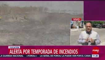 FOTO: Alerta por la temporada de incendios en Yucatán, 2 marzo 2019