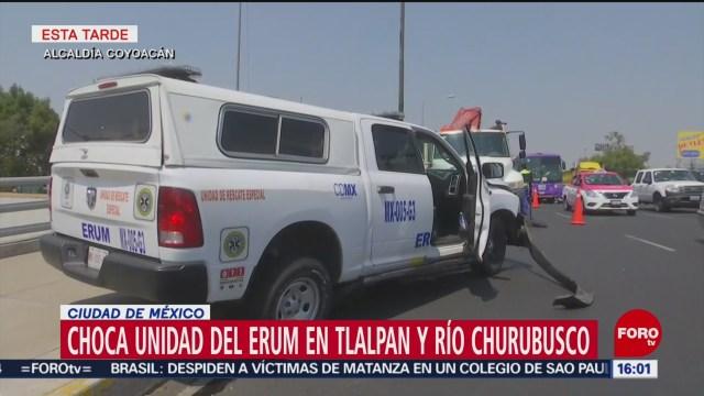 Foto: Ambulancia impacta una grúa, en Coyoacán
