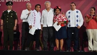 """Foto: Andrés Manuel López Obrador presentó en San Luis Potosí el sistema de universidades """"Benito Juárez"""", el 30 de marzo de 2019 (Gobierno de México)"""