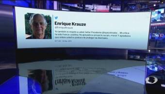 FOTO:AMLO asegura respetar a Enrique Krauze, 18 Marzo 2019