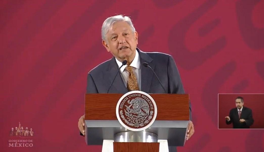 Foto: El presidente de México, Andrés Manuel López Obrador, ofrece su conferencia de prensa matutina en Palacio Nacional, 28 marzo 2019