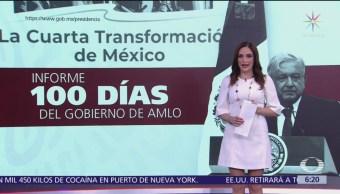 AMLO da informe sobre sus 100 días de Gobierno