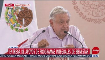 AMLO lanza Programas Integrales de Bienestar en Manzanillo, Colima