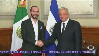 AMLO recibe al presidente electo de El Salvador