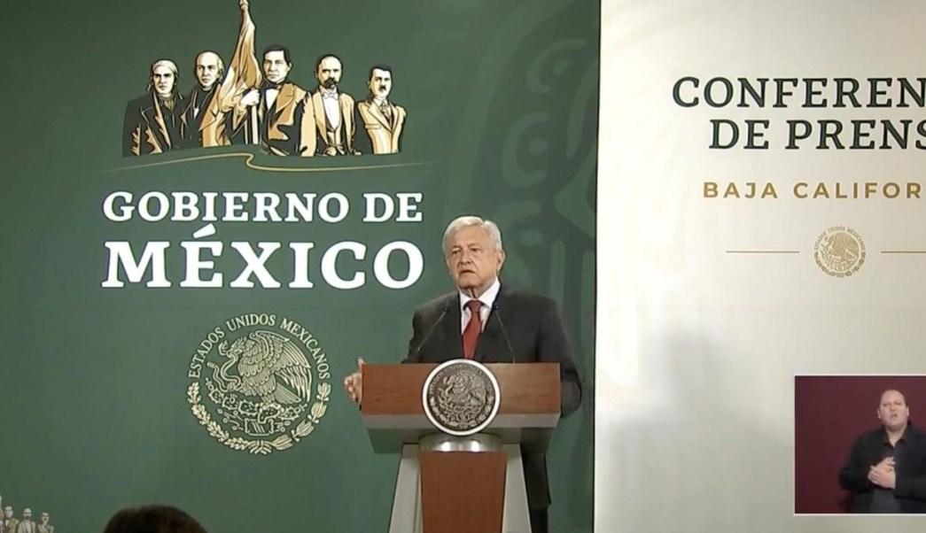 Foto: El presidente de México, Andrés Manuel López Obrador, durante su conferencia de prensa en Tijuana, 27 marzo 2019