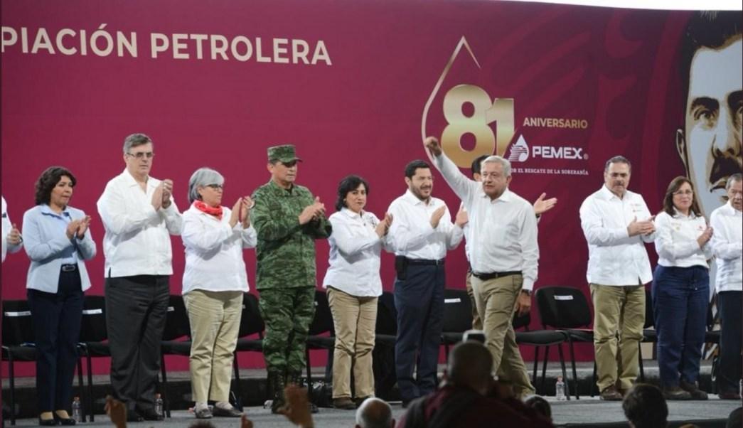 Foto: Conmemoración del 81 aniversario de la Expropiación Petrolera, 18 de marzo 2019. Twitter @rocionahle