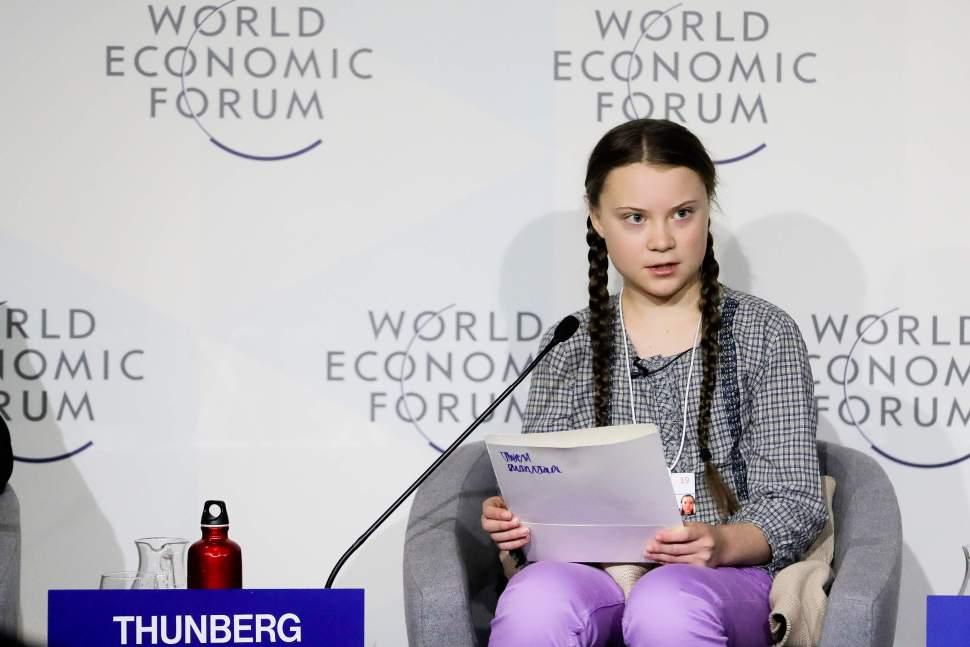 foto Greta Thunberg Foro Económico Mundial de Davos 25 enero 2019