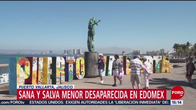 Foto: Aparece en Puerto Vallarta menor desaparecida en Edomex