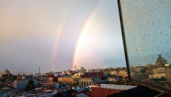 fotos Usuarios de redes sociales presumen fotos y videos del arcoíris en CDMX