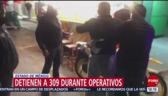 Foto: Arrestan a más de 300 personas durante últimas 48 horas en Edomex