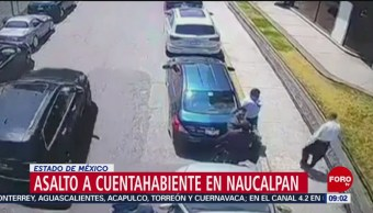 FOTO: Asalto a cuentahabiente en Naucalpan, Estado de México, 16 marzo 2019