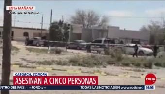 FOTO:Asesinan a 5 personas en Caborca, Sonora, 24 Marzo 2019