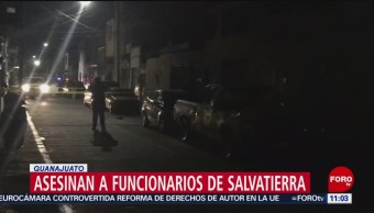 Asesinan a funcionarios de Salvatierra, Guanajuato